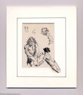 Original Comic Art:Sketches, Frank Frazetta - Original Sketches of Males in Motion (undated). Small pen and ink of nude men, standing still and in motion...