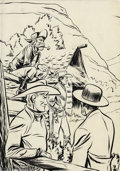 Original Comic Art:Sketches, Fred Harmon (attributed) - Original Art Illustration for Red Ryder and the Mystery of Whispering Walls. (Whitman, 1941). The...