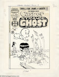 "Original Comic Art:Covers, Warren Kremer- Original Cover Art for Casper Strange Ghost Stories#13 (Harvey, 1976). The art paper size is 10"" x 13.25"" wi..."