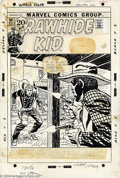 "Original Comic Art:Covers, Larry Lieber - Original Cover Art for Rawhide Kid #94 (Marvel,1971). Tense cover by Larry Lieber, from the story, ""Day of t..."
