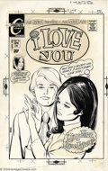 "Original Comic Art:Covers, Mike Vosburg (attributed) - Original Cover Art for I Love You #96(Charlton, 1972). A ""gold-digger"" accepts a ring even thou..."