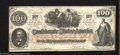 Confederate Notes:1862 Issues, Counterfeit 1862 $100, CT-41/316, About Uncirculated. This is ...