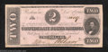 Confederate Notes:1862 Issues, 1862 $2 Judah P. Benjamin, T-54, About Uncirculated. A couple ...