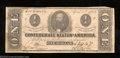 Confederate Notes:1863 Issues, 1863 $1 Clement C. Clay, T-62, Very Fine. This note has very ...