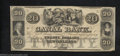 Obsoletes By State:Louisiana, 18__ $20 Canal Bank, New Orleans, LA, About Uncirculated. The ...