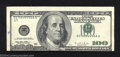 Error Notes:Shifted Third Printing, 1996 $100 Federal Reserve Note, Fr-2175-G, Extremely Fine. The ...