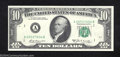Error Notes:Skewed Reverse Printing, 1969-A $10 Federal Reserve Note, Fr-2019-A, Choice Crisp ...