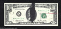 Error Notes:Ink Smears, 1969-A $10 Federal Reserve Note, Fr-2019-A, Choice Crisp ...