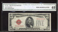 Small Size:Legal Tender Notes, 1928D $5 Legal Tender Note, Fr-1529, CGA Graded Gem ...