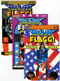 American Flagg Group (First Comics, 1983-89) Condition: Average NM+.... (Total: 63 Comic Books)