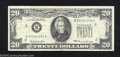 Error Notes:Obstruction Errors, 1969 $20 Federal Reserve Note, Fr-2067-B, Very Fine. Only the ...