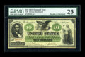 Large Size:Demand Notes, Fr. 9 $10 1861 Demand Note PMG Very Fine 25....