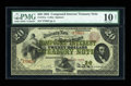 Large Size:Compound Interest Treasury Notes, Fr. 191a $20 1864 Compound Interest Treasury Note PMG Very Good 10Net....
