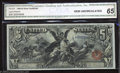 Large Size:Silver Certificates, 1896 $5 Silver Certificate, Fr-270, CGA Gem Uncirculated 65. A ...