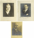 Autographs:U.S. Presidents, Herbert Hoover and Cabinet Autograph Collection. A comprehensivegrouping put together by Ewing C. Sadler of Sulphur, Oklaho...