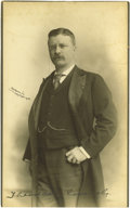 """Autographs:U.S. Presidents, Theodore Roosevelt Signed Photograph, 5.75"""" x 9.5"""", marked""""Rockwood N.Y. copyright 1900"""". Roosevelt is depicted here asthe..."""