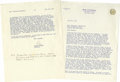 """Autographs:U.S. Presidents, Ronald Reagan as Governor Typed Letter Signed, """"Ron"""", two pages on California Governor's stationery, 8.5"""" x 11, Sacramen..."""