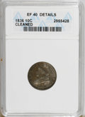 Bust Dimes: , 1836 10C --Cleaned--ANACS. XF40 Details. NGC Census: (4/153). PCGSPopulation (8/133). Mintage: 1,190,000. Numismedia Wsl. P...