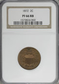Proof Two Cent Pieces, 1872 2C PR66 Red and Brown NGC....