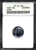 Proof Roosevelt Dimes: , 1960 10C PR64 Full Bands ANACS. ...