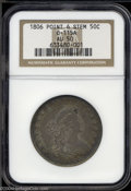 Early Half Dollars: , 1806 Pointed 6, No Stem AU50 NGC. ...