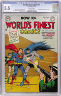 Golden Age (1938-1955):Superhero, World's Finest Comics #71 (DC, 1954) CGC FN- 5.5 Off-white pages....
