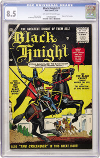 Black Knight #1 (Atlas, 1955) CGC VF+ 8.5 Off-white to white pages