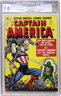 Golden Age (1938-1955):Superhero, Captain America Comics #78 (Atlas, 1954) CGC FN/VF 7.0 Off-white to white pages....