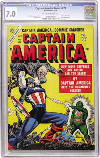 Captain America Comics #78 (Atlas, 1954) CGC FN/VF 7.0 Off-white to white pages