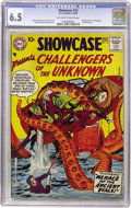 Silver Age (1956-1969):Superhero, Showcase #12 Challengers of the Unknown (DC, 1958) CGC FN+ 6.5 Off-white to white pages....