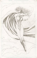 Original Comic Art:Covers, Rob Liefeld - Onslaught Reborn, Penciled Scarlet Witch Splash Page1 Original Art (Marvel, 2007)....