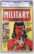 Golden Age (1938-1955):War, Military Comics #14 (Quality, 1942) CGC NM 9.4 Cream to off-white pages....