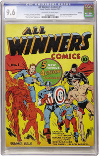 All Winners Comics #1 Chicago pedigree (Timely, 1941) CGC NM+ 9.6 Off-white to white pages