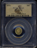 California Fractional Gold: , 1870 Liberty Round 50 Cents, BG-1010, R.3, MS63 PCGS. ...