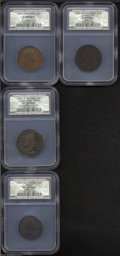1723 1/2P Hibernia Halfpenny Fine Details, Reverse Corroded, NCS, Breen-154, pellet before H, small 3, an attractive cho...