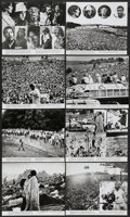 "Movie Posters:Rock and Roll, Woodstock (Warner Brothers, 1970). Deluxe Stills (9) (11"" X 13"").Rock and Roll.... (Total: 9 Items)"