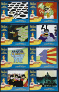 "Movie Posters:Animated, Yellow Submarine (United Artists, R-1999). Lobby Card Set of 8 (11""X 14""). Animated.... (Total: 8 Items)"