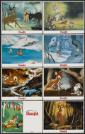 "Movie Posters:Animated, Bambi (Buena Vista, R-1980s). Lobby Card Set of 8 (11"" X 14""). Animated.... (Total: 8 Items)"