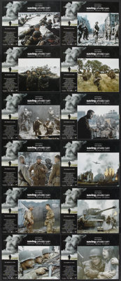 "Saving Private Ryan (Paramount, 1998). Deluxe International Lobby Card Set of 12 (11"" X 14""). War.... (Total:..."