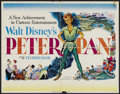 "Movie Posters:Animated, Peter Pan (RKO, 1953). Half Sheet (22"" X 28""). Animated...."