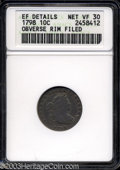 Early Dimes: , 1798 10C Large 8--Obverse Rim Filed--ANACS. XF Details, Net ...