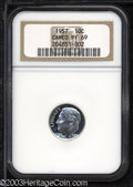 Proof Roosevelt Dimes: , 1957 10C PR69 Cameo NGC. Fully brilliant and essentially ...