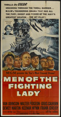 """Movie Posters:War, Men of the Fighting Lady (MGM, 1954). Three Sheet (41"""" X 81"""").War...."""