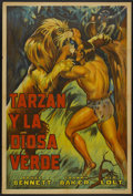 "Movie Posters:Adventure, Tarzan and the Green Goddess (American Trading, R-1940s).Argentinean Poster (29"" X 43""). Adventure...."