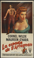 """Movie Posters:Adventure, At Sword's Point (RKO, 1952). Argentinean Poster (29"""" X 43""""). Also known as Sons of the Musketeers. Adventure...."""