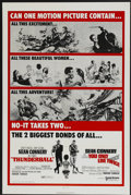 "Movie Posters:James Bond, Thunderball/You Only Live Twice Combo (United Artists, R-1970). OneSheet (27"" X 41""). James Bond...."