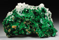 Minerals:Cabinet Specimens, CONICHALCITE WITH CALCITE. ...