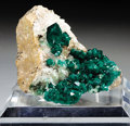 Minerals:Cabinet Specimens, DIOPTASE ON MATRIX. ...