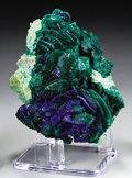 "Minerals:Cabinet Specimens, MALACHITE & AZURITE ""ROSE"". ..."