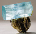 Minerals:Cabinet Specimens, AQUAMARINE -- DOUBLY TERMINATED CRYSTAL. ...